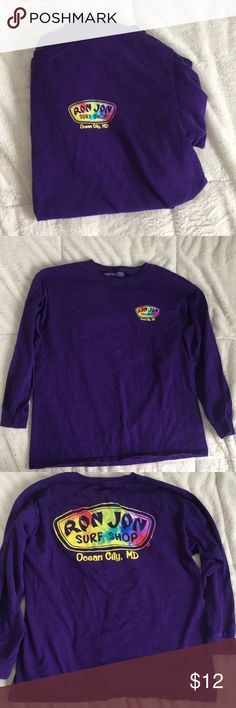 Ron Jon long sleeve shirt This dark purple long sleeve from ocean city MD is super cute and was only worn twice! Ron Jon surf shop Shirts & Tops Tees - Long Sleeve