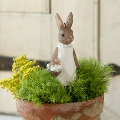 Bunny Candle, Girl in EASTER Decorating Eggs,Birds+Bunnies at Terrain