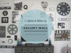 Create a Shiplap Gallery Wall