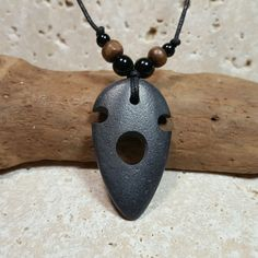 Stone Arrowhead Necklace carved stone pendant tribal necklace primitive jewelry arrow head pendant mens necklace rock necklace