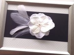 White Hydrangea Flower Clip, SWAROVSKI Pearl Clip, Bridal Fascinator, Feather Clip, Wedding Hair Clip, Flower Clip, Bridesmaid Accessory on Etsy, $16.00 CAD