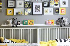 Four decor ideas // wall art wednesday yellow kids rooms, nursery modern, b Gray Bedroom, Kids Bedroom, Yellow Kids Rooms, Nursery Modern, Minimalist Home Decor, Kid Spaces, Baby Decor, Boy Room, Room Inspiration