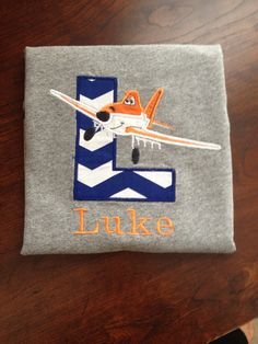 Dusty Crophopper and Rochelle Planes shirts are so fun! Personalize the shirt with your childs first initial and name. $30