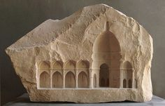 Miniature Architectural Sculptures Carved Into Marble And Stone by Mathew Simmonds http://designwrld.com/architectural-sculptures-mathew-simmonds/