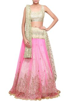 Pink lehenga embellished in sequence work only on Kalki