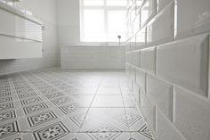 Patroontegels Inspiratie Grafisch : Revoir paris flora met witte metro tegels tegelfloor