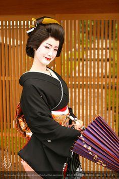 芸妓姿で野外撮影。#Maiko #Geiko #Kyoto