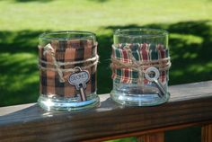 Country/Rustic decor for status jars