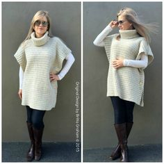 Easy Crochet Poncho Pattern Modern Style No.932 Digital ePattern Instant Download $4.00