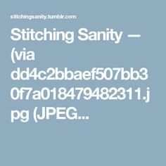 Stitching Sanity — (via dd4c2bbaef507bb30f7a018479482311.jpg (JPEG...