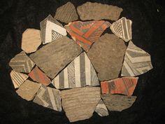 Arizona Anasazi Pottery Shards, Ancient Indian Artifact, Native American
