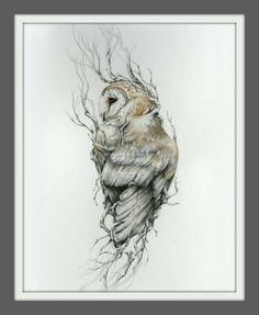 Chouette effraie x 14 reproduction du dessin original Barn owl 11 x 14 reproduction of original drawing by NestandBurrow Body Art Tattoos, Cool Tattoos, Tatoos, Sleeve Tattoos, Buddha Tattoos, Circle Tattoos, Hand Tattoos, Fish Tattoos, Buho Tattoo