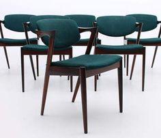Model 42 kai kristiansen flap back chair oak leather original skovmand andersen danish modern vintage design