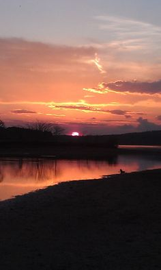 Sunset on the Coosa River.  Beautiful