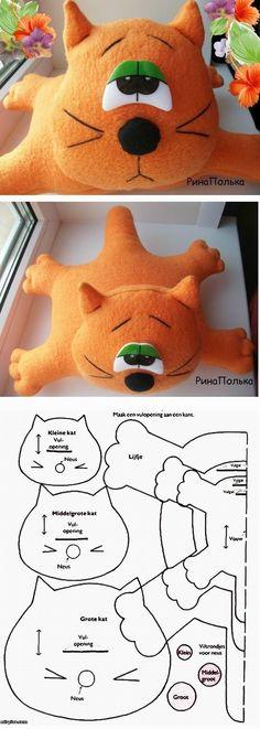 *FELT ART ~ Tired Cat