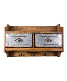 Look at this Drawer & Hook Wooden Wall Storage on #zulily today!