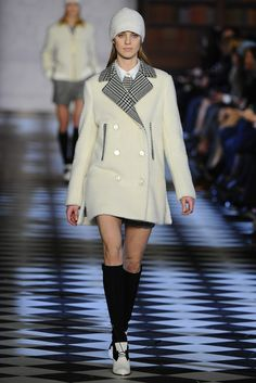 Tommy Hilfiger RTW Fall 2013, beanie, peacoat and knee high socks - cool