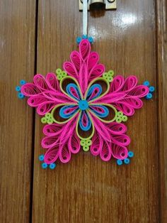 Amazing quilled snowflake that has different colors