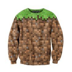 game sweatshirt minecraft dirt