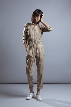 Mono de inspiración masculina camel de Elisa Rivera. #womenswear #womenstyle #stylish #cute #fashionwomen