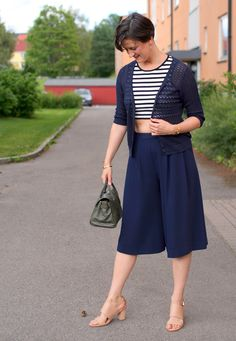 Tall Girl's Fashion // Cropped top & wide culottes