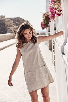 33 Vestidos Boho Chic: TOP Marcas 2019 - Vestir Tutorial and Ideas Simple Dresses, Casual Dresses, Short Dresses, Casual Outfits, Fashion Dresses, Simple Dress Casual, Linen Dresses, Linen Summer Dresses, Prom Dresses