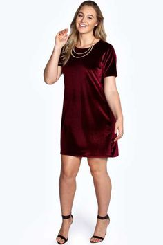 9b5af47564c5 Julia Velvet Shift Dress at boohoo.com Velvet Shirt Dress