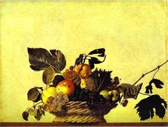 Still Life with a Basket of Fruit   Painting by Caravaggio