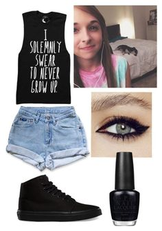 """""""Dog Sitting with Jenn"""" by amya18 ❤ liked on Polyvore featuring Vans, OPI, women's clothing, women, female, woman, misses and juniors"""