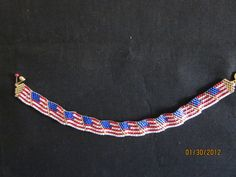 U. S. flag bracelet - my first class project, Jan 2012