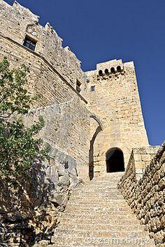 Castle at Lindos Acropolis, Rhodes Island, Greece  © Panagiotis Karapanagiotis