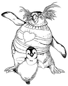 happy feet coloring pages printable - coloring pages printables on pinterest disney coloring