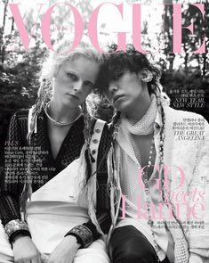 #HanneGabyOdiele & #GDragon by #YoungKyuYoo for the cover of #VogueKorea January 2015