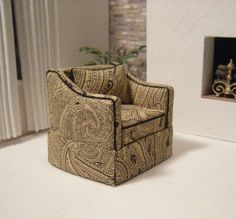 Miniature living room chair by janetharvie on Etsy, $49.00