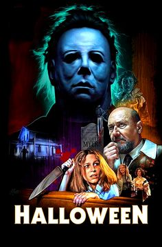 Fifteen years after murdering his sister on Halloween Night Michael Myers escapes from a mental hospital and returns to the small town of Haddonfield, Illinois to kill again. Horror Icons, Horror Movie Posters, Movie Poster Art, Best Horror Movies, Classic Horror Movies, Scary Movies, Halloween Film, Halloween Horror, Halloween Poster