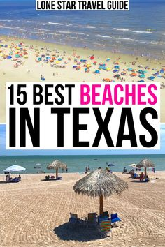 Looking for the best place to set up your umbrella on the Gulf Coast? Here are the prettiest beaches in Texas! best texas beaches | best beach towns in texas | texas beach towns | texas gulf coast | gulf coast of texas | where to go to the beach in texas | best beaches in texas for families | best texas beaches with kids | corpus christi beaches | galveston beaches | south padre beaches | rockport beach | padre island national seashore texas | texas coast | tx beach trip | spring break in… Hiking In Texas, Texas Travel, Travel Usa, Us Destinations, Amazing Destinations, Best Beaches In Texas, Travel Guides, Travel Tips, Visit Texas