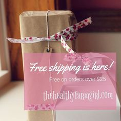 It's here! Get free shipping on all orders over $25.  Happy Shopping! . . . . #thehealthyfarmgirl #allnaturalskincare #girlboss #womeninbusiness #shopsmall