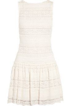 Alice + Olivia Chap cotton-blend lace mini dress | NET-A-PORTER