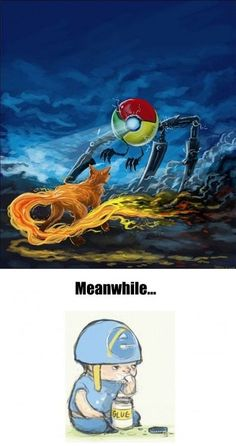 The mighty browser wars. go google chrome!