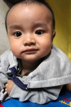 These are pictures of my cousin, he still 6 month...