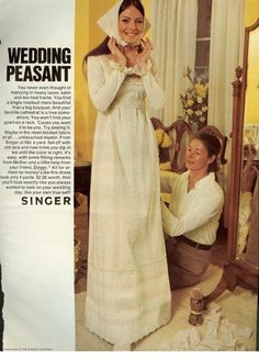 Oh, no traditional gowns for me. Im going for the wedding peasant look on my big day!