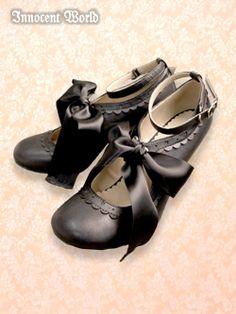 Innocent World Lolita Shoes, Lolita Dress, Dressing, Sock Shoes, Shoe Boots, Gothic Lolita Fashion, Japanese Street Fashion, Cute Fashion, Character Shoes