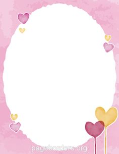Printable watercolor heart border. Use the border in Microsoft Word or other programs for creating flyers, invitations, and other printables. Free GIF, JPG, PDF, and PNG downloads at  http://pageborders.org/download/watercolor-heart-border/