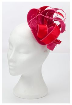 Kate Fearnley Red and Pink Fascinator