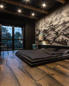 Home Design, Home Interior Design, Design Ideas, Interior Colors, Interior Plants, Exterior Design, Black Bedroom Design, Luxury Bedroom Design, Bedroom Black