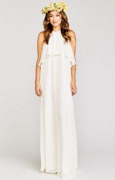808a0a74565 Show Me Your Mumu Caitlin Ruffle Maxi Dress ~ Wedding Cake Chiffon  172 at Show  Me Your Mumu