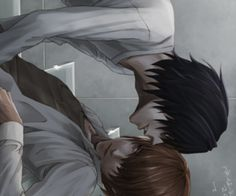 L x Light Death Note yaoi