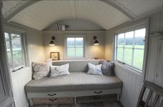 46 Trendy Ideas Garden Shed Interiors Shepherds Hut Caravan Renovation, Home Renovation, Summer Sheds, Garden Huts, Garden Lodge, Garden Shed Interiors, Craft Shed, Shepherds Hut, Ikea