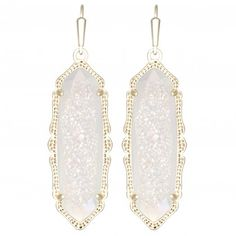 Fran Earring, Iridescent Drusy by Kendra Scott | Charm & Chain