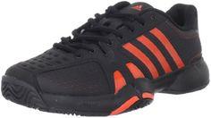 adidas Men's Barricade Team 2 Tennis Shoe,Black/High Energy/High Energy,11 M US - Tennis